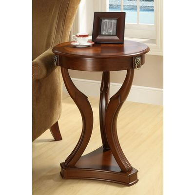 Monarch Specialties 20 Inch Round Accent Table W Tempered Glass In Brown Solid Wood Coffee Table Round Accent Table Furniture