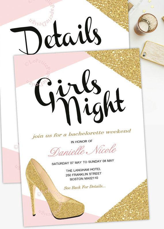 Weekend Invitation Girls Night Out Bachelorette Party Bride To Be