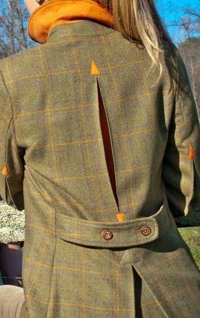 Burnt Orange Bloomsbury Women S Tweed Shooting Jacket