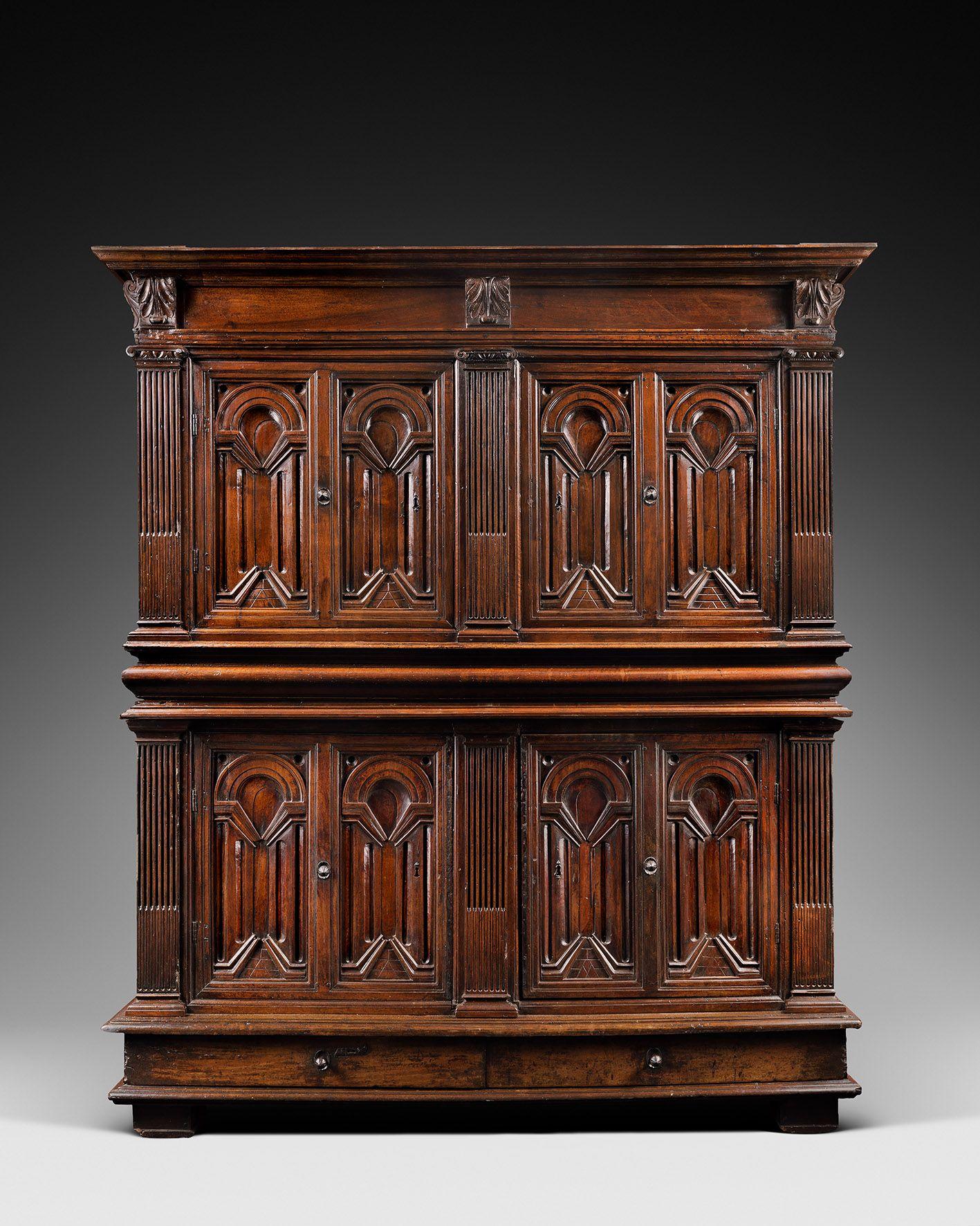 armoire de palais d 39 poque renaissance motifs de perspectives italie florence 16e si cle. Black Bedroom Furniture Sets. Home Design Ideas