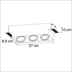Photo of Recessed spotlight can be swiveled and tilted – Oneon 3 Trimless Design, Modern Gu10 3 lights interior lighting