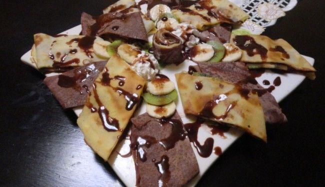 كريب الشوكولا بالكيوي و الموز Food Yummy Breakfast