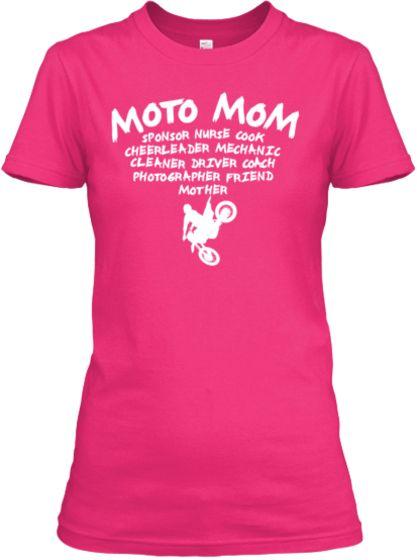 3d3ae52cd8f07 Moto Mom T | Retro T Designs | Motocross shirts, Motorbike clothing ...