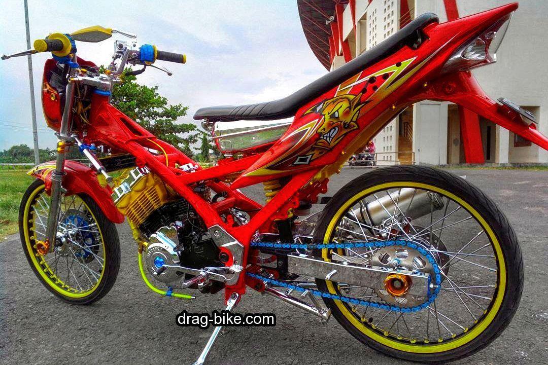 50 Foto Gambar Modifikasi Satria Fu Thailook Terbaik Terkeren Air Brush Kontes Drag Bike Com Gambar Honda Cb Sepeda