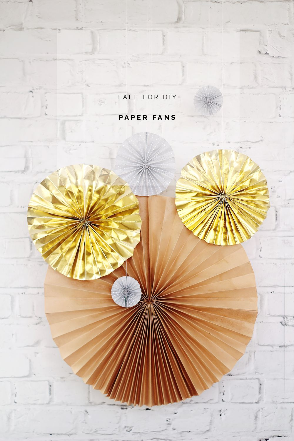 DIY New Years Eve Paper Fans   Diy paper, Fans and Tutorials