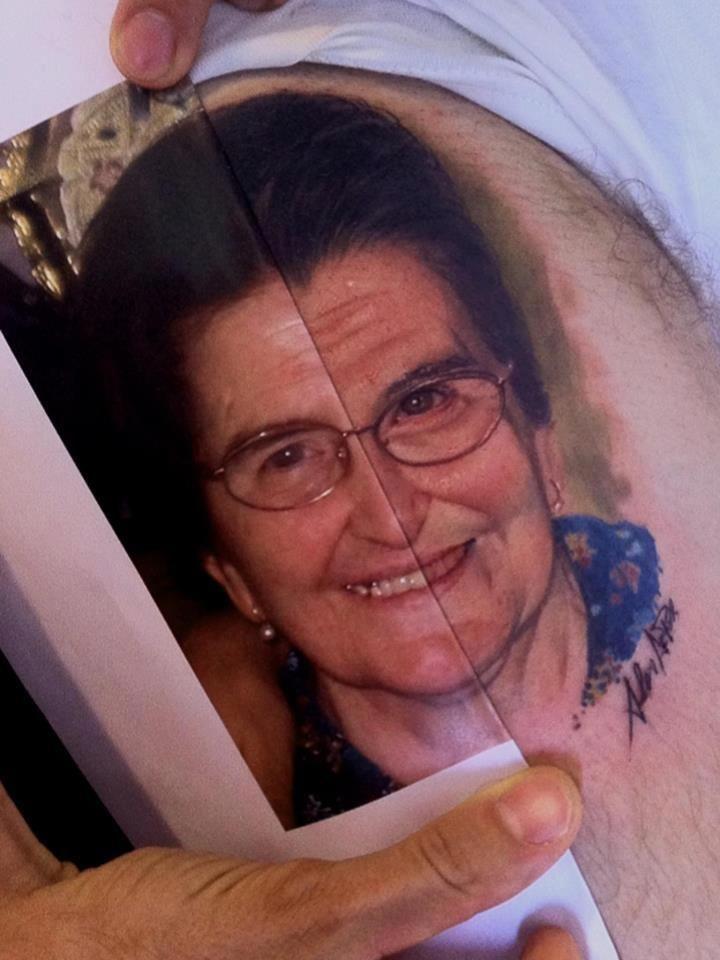 Artist alex de pase portrait tattoo photo realism