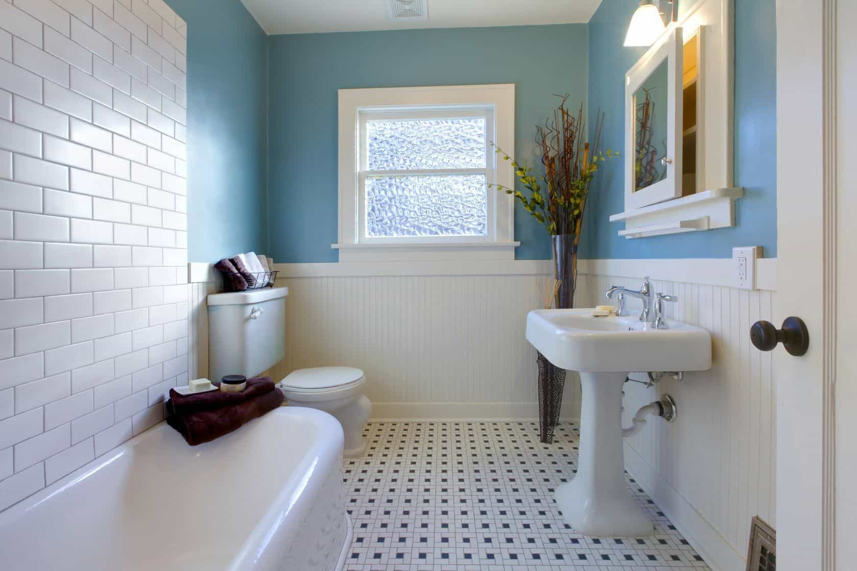 Classic bathroom wainscoting bathroom wainscoting is partialwall