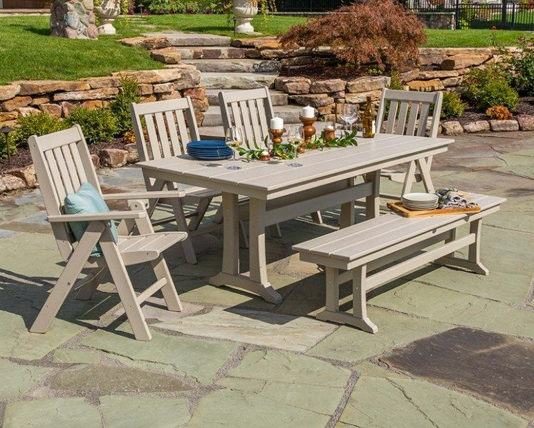Defining Your Outdoor Farmhouse Style Farmhouse Dining Table Set