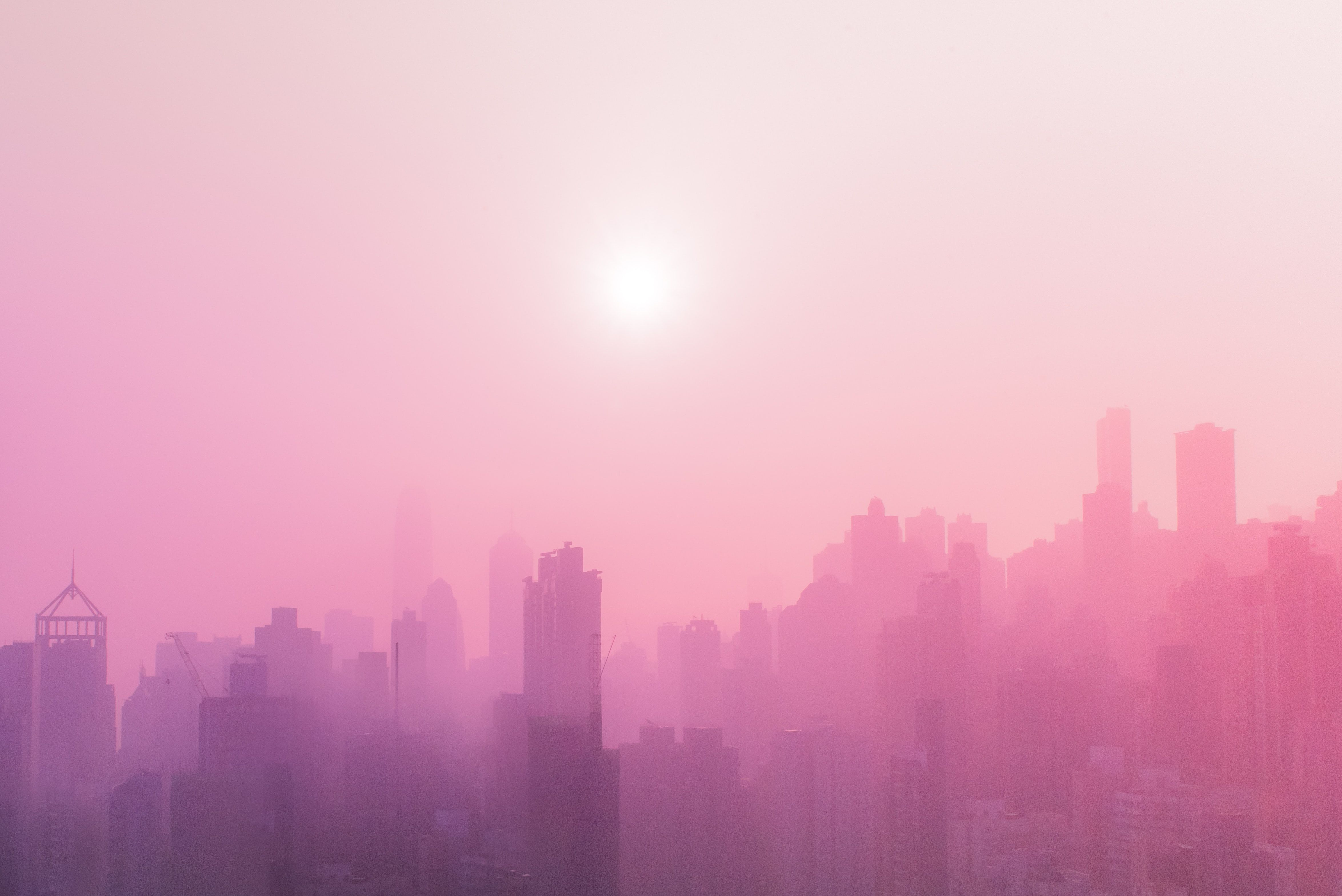 Skyscraper Covered With Fog At Daytime Aesthetic Wallpapers Aesthetic Pastel Wallpaper Aesthetic Backgrounds