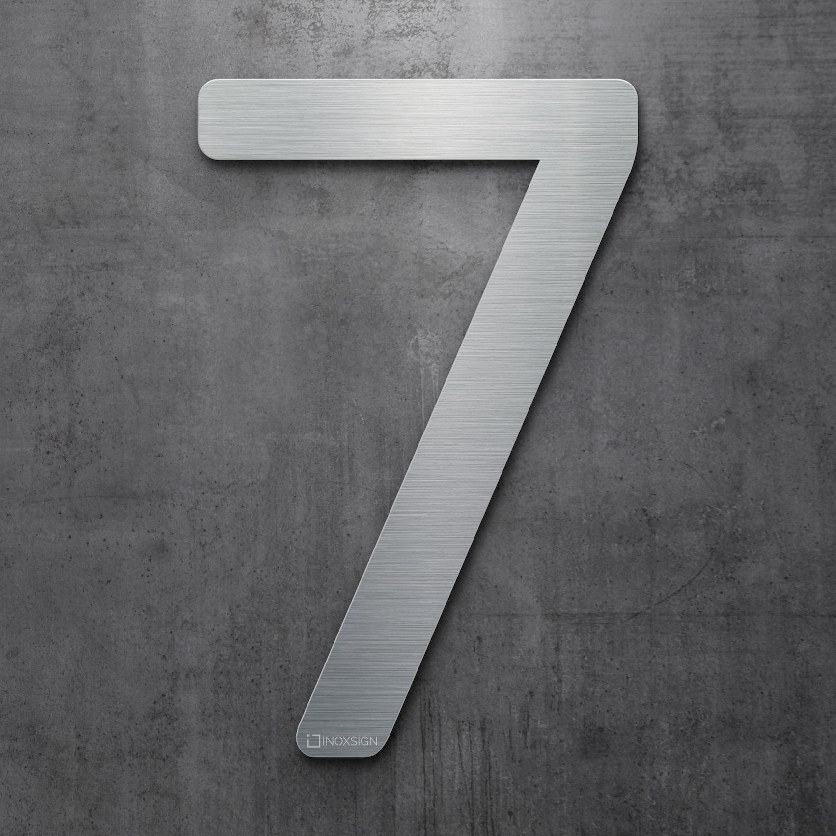Moderne Hausnummern Edelstahl neu inoxsign edelstahl hausnummer 7 moderne hausnummern aus