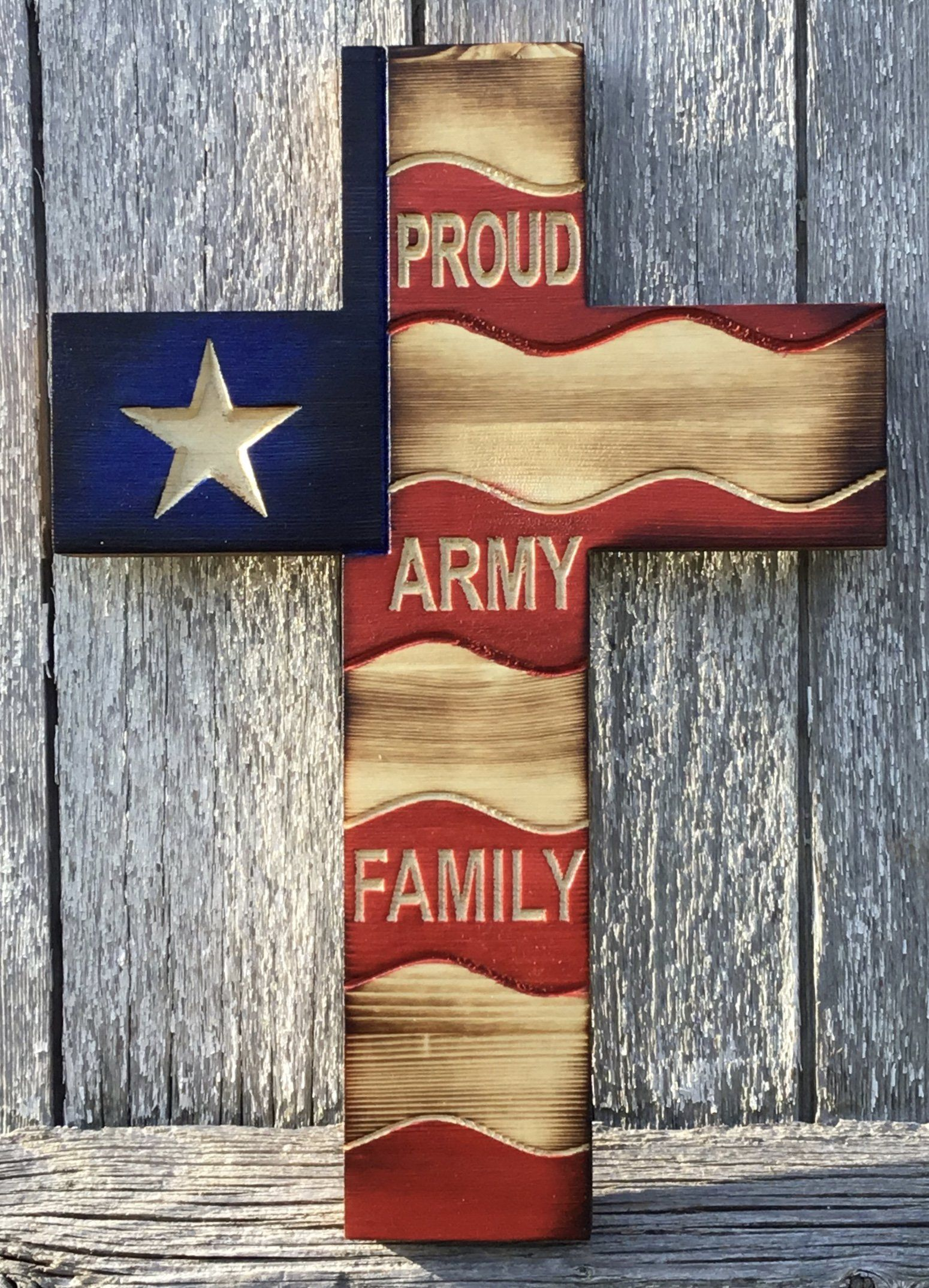 United States Army American Flag Cross | Family and Blood