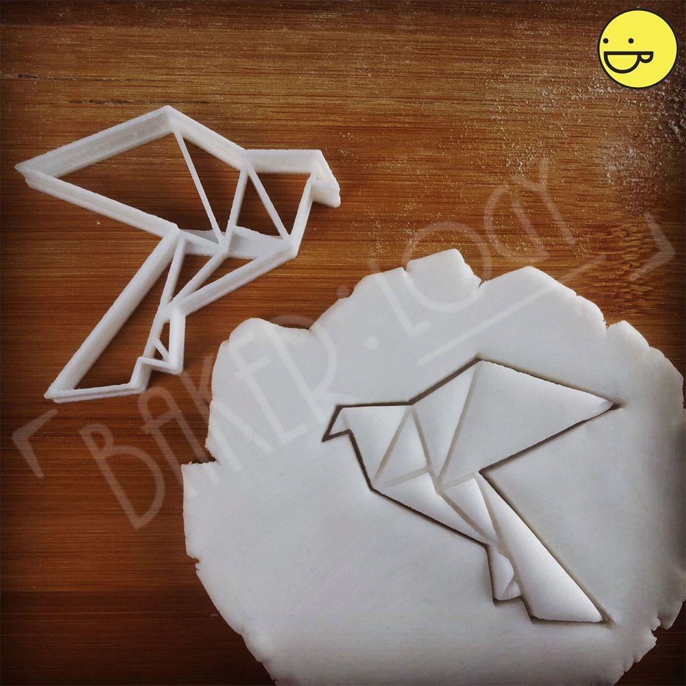 Origami Dove cookie cutter | peace bird craft fondant biscuit wedding love doves  | eBay