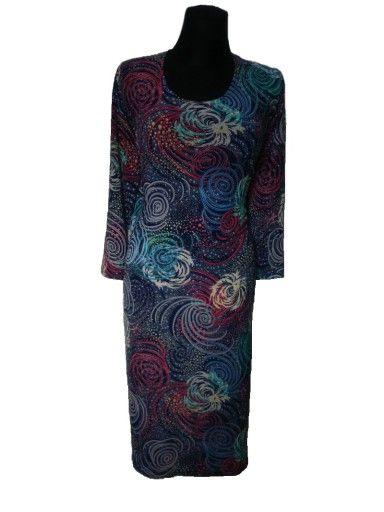 Sukienka Zygzaki Rekawek 3 4 Dzianina R 48 44 58 6969928898 Oficjalne Archiwum Allegro
