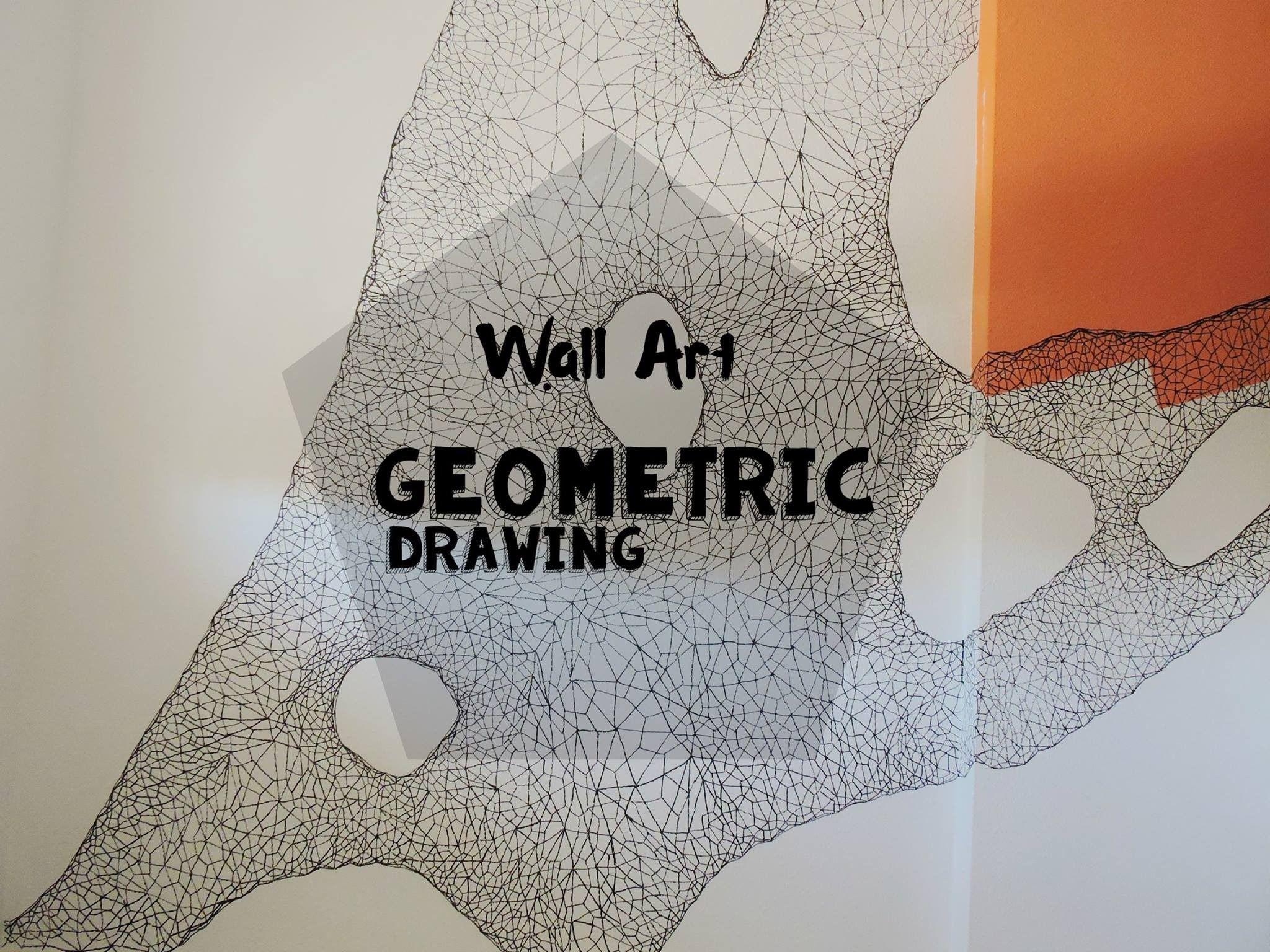 Speed painting Wall Art Geometric drawing - Arte en muro Pintura Geométrica