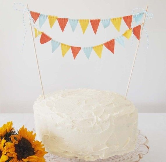 Cake topper banners