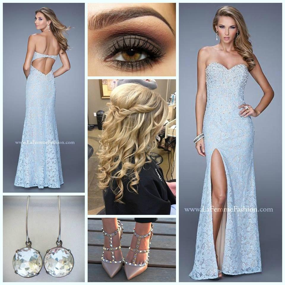 Diamond Back Lace Prom Dresses