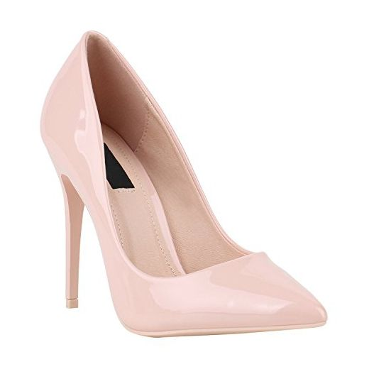 Elegante Damen High Heels Spitze Pumps Lack Metallic Stiletto Samt Glitzer  Nieten Abend Business Schuhe 142119 0a87b5841a