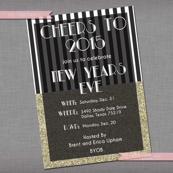 new years eve party invitation nye invitation design fonts