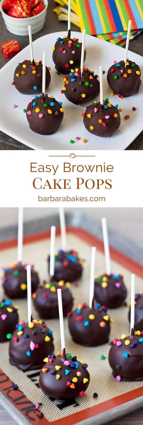 Easy Brownie Cake Pops Recipe from Barbara Bakes