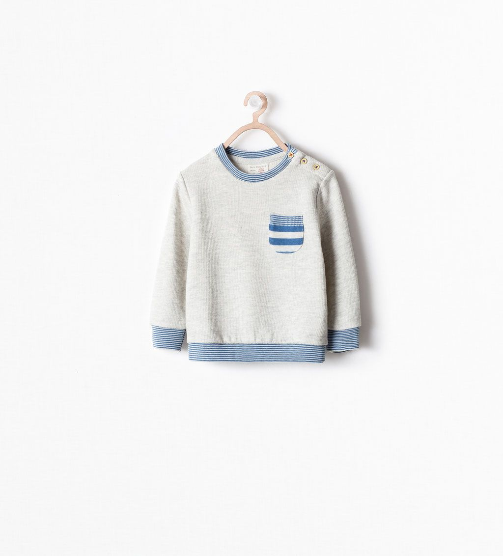 Stripe Detail Sweater Sweatshirts Baby Boy 3 Months 3 Years Kids Zara United States 이미지 포함 아동복 아동용
