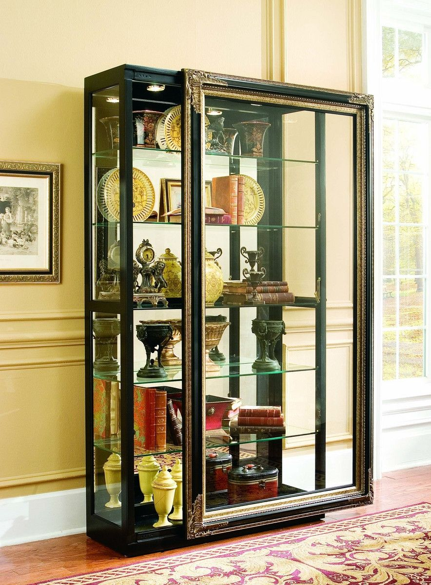 50 Double Glass Door Curio Cabinet Kitchen Design And Layout