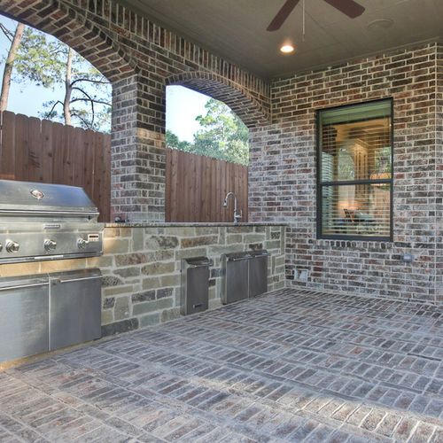 Pinsilvia Pouwels On Kitchen  Pinterest  Backyard House And Prepossessing Outdoor Kitchen Designs Houston Decorating Design