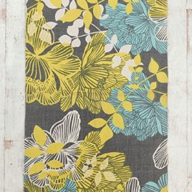 Yellow Gray Aqua Rug Urban Outfitters With Images Grey