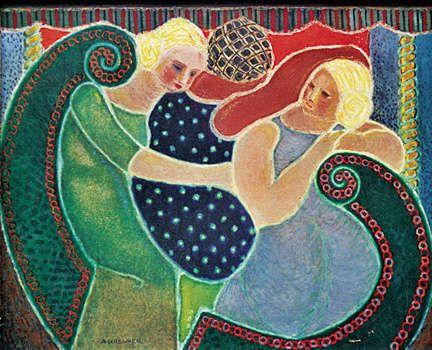 Alfred Georges Regner      n° 166 - La gondole - Le manège - 1950 - huile sur toile - 130 x 162 cm