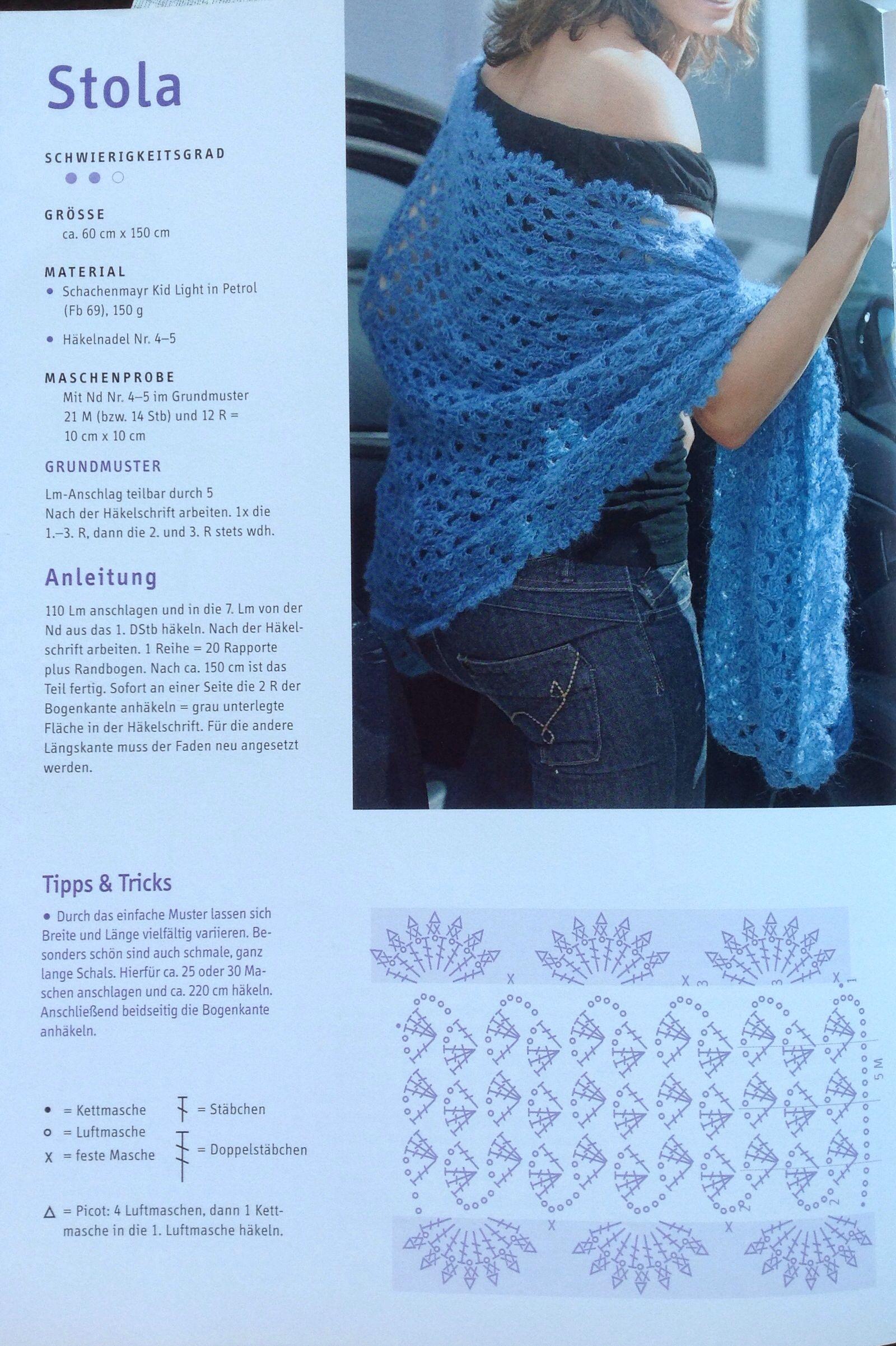 Fantastic Einfach Häkeln Wrap Muster Gift - Decke Stricken Muster ...
