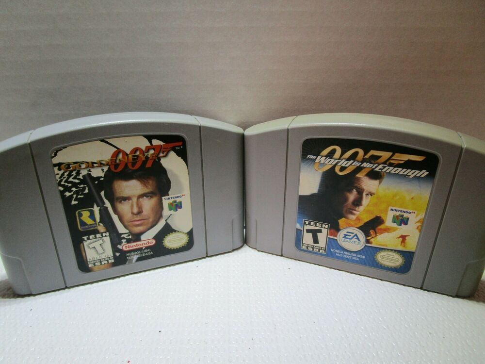 N64 007 Goldeneye The World Is Not Enough Video Game Cartridges