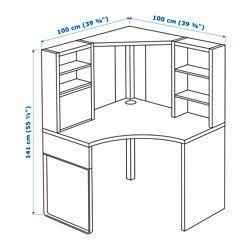 Micke organizzazioni pinterest escritorios for Ikea scrivania micke angolare
