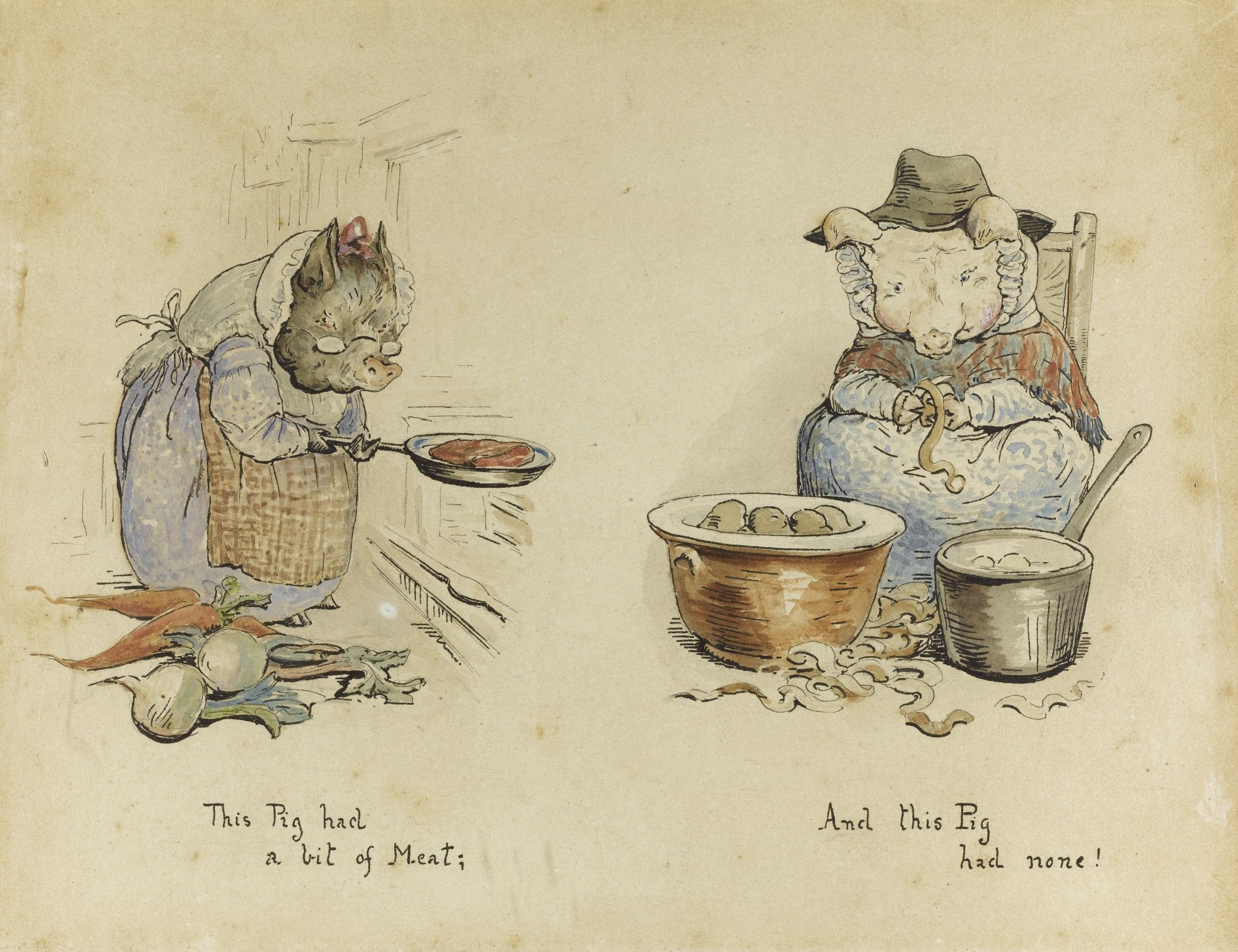 Beatrix Potter Libros Beatrix Potter Watercolors For Quotthis Pig Had A Bit Of