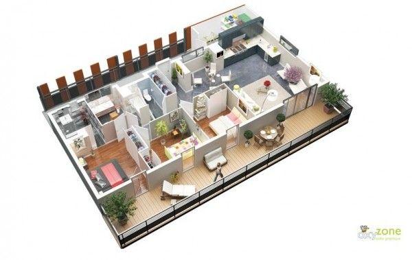 3 Bedroom Apartment House Plans 100 Thiết Kế Phong Ngủ đẹp