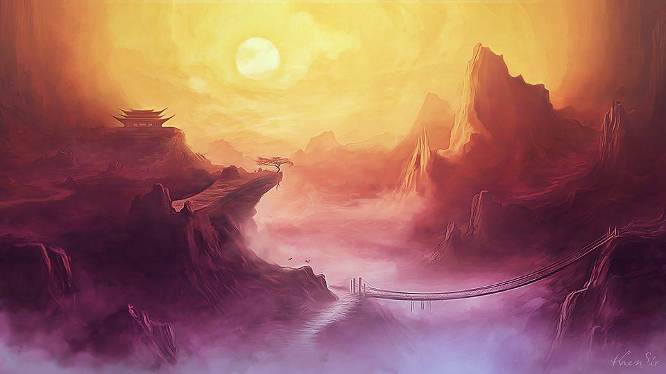 Kung Fu Panda Valley Of Peace Jade Palace Kung Fu Panda City Landscape Fantasy Art Landscapes