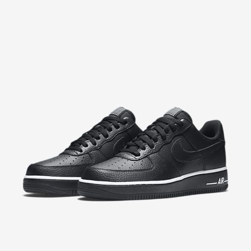 san francisco ae5f7 009a5 Brand-New-Mens-Nike-Air-Force-One-1-Low-American-Star-Black-Size-6-15-NIB