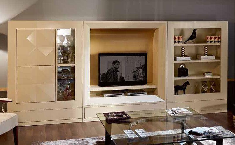 Mueble tv moderno diamond material madera de ebano existe for Muebles de tv modernos