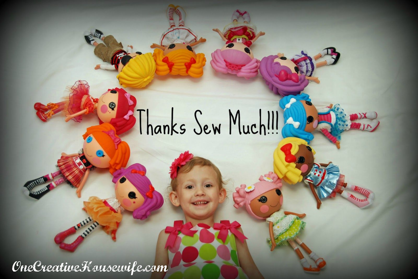 Lalaloopsy thank you card card idea by One Creative Housewife.
