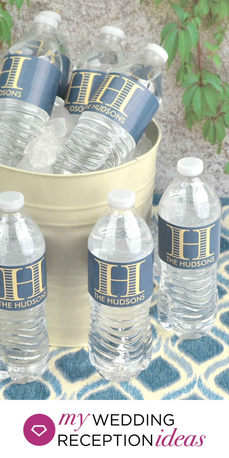 Personalized Wedding Monogram Water Bottle Labels In 2020 Water