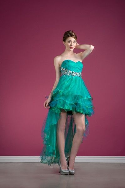 Homecoming Sweet Sixteen Bridesmaids Flirty Cocktail Dress High Low Prom