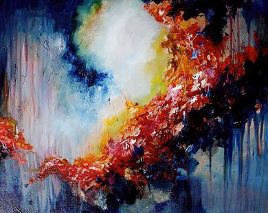 Melissa S McCracken | Synesthetic Artist  - She paints SOUNDS.  She can play a song and paint the way the audio would appear visually.  It's amazing and completely stunning.