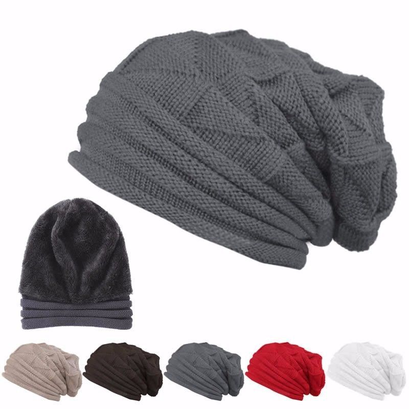 Men Women Winter Fashion Baggy Beanie Hat Ski Slouchy Chic Unisex Knitted Cap