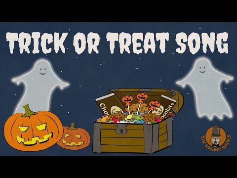 trick or treat song halloween songs for kids the singing walrus youtube