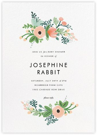 Baby shower invitations - online and paper - Paperless Post - baby shower invitation letter