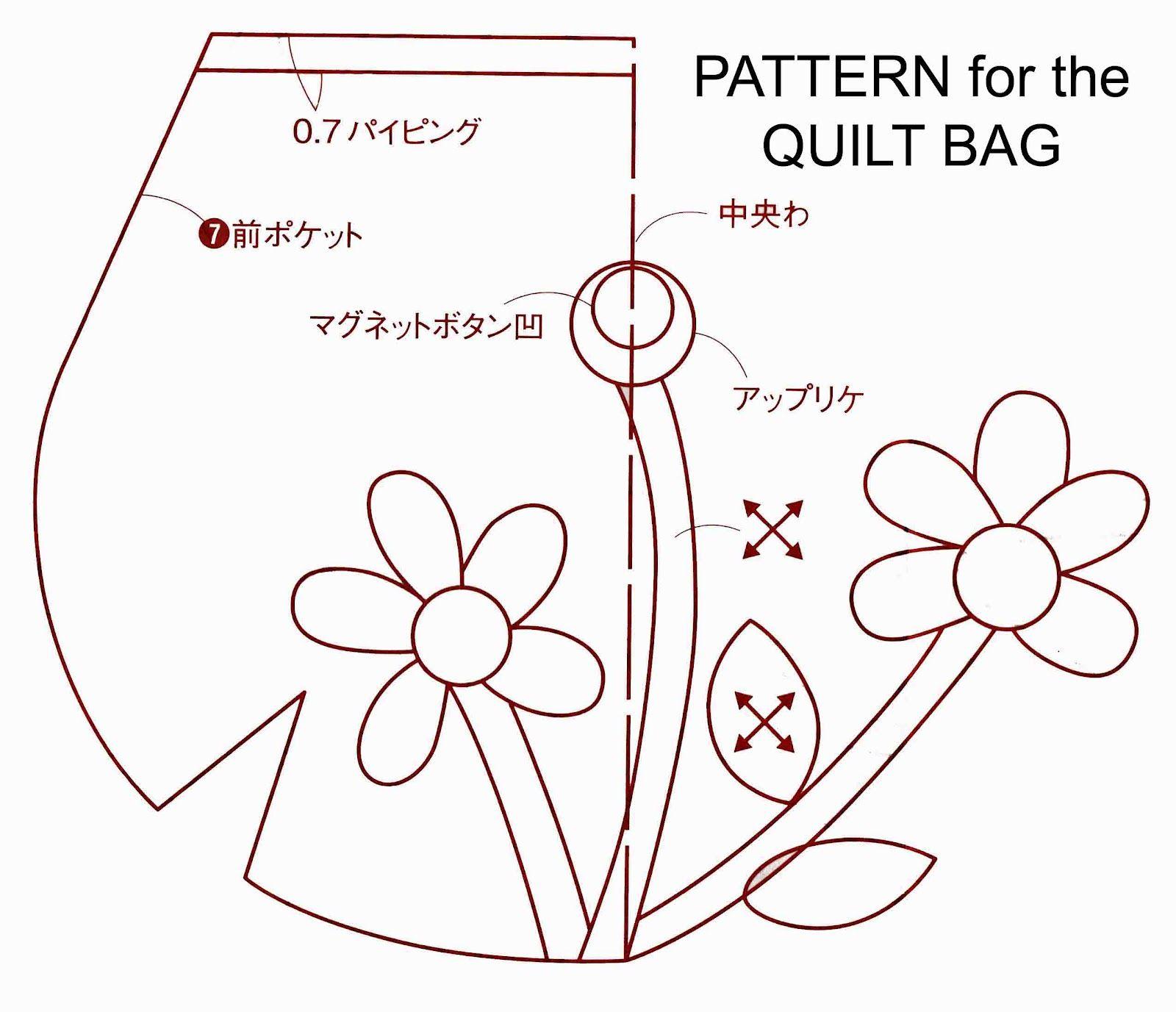 Ulla's Quilt World: Quilt bag, dress with applique flower