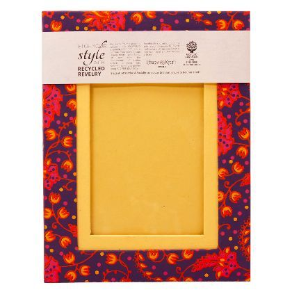 UTSAV KRAFT Exotic Pink Yellow Purple Designer 4x6 Handmade Paper ...