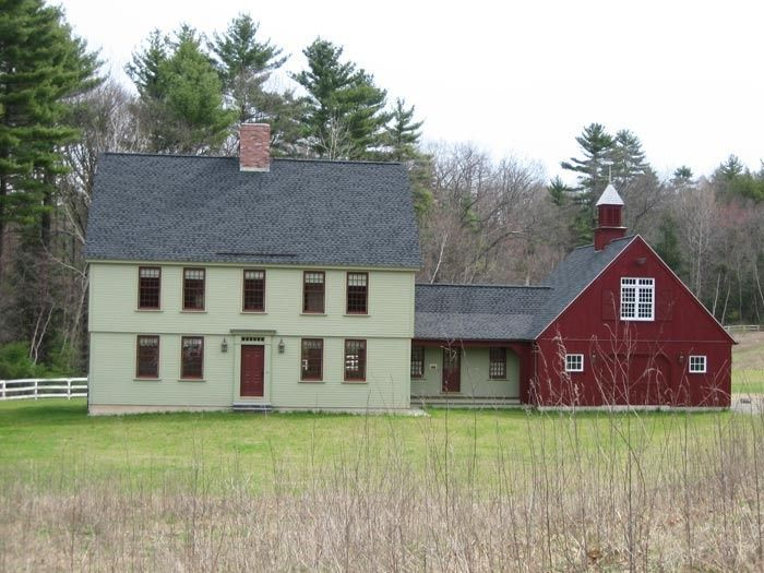 Antique colonial with attached garage google search for House with barn attached