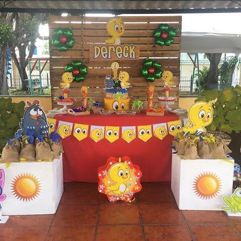Decoración para cumpleaños de pollito Ideas para - decoracion de cumpleaos
