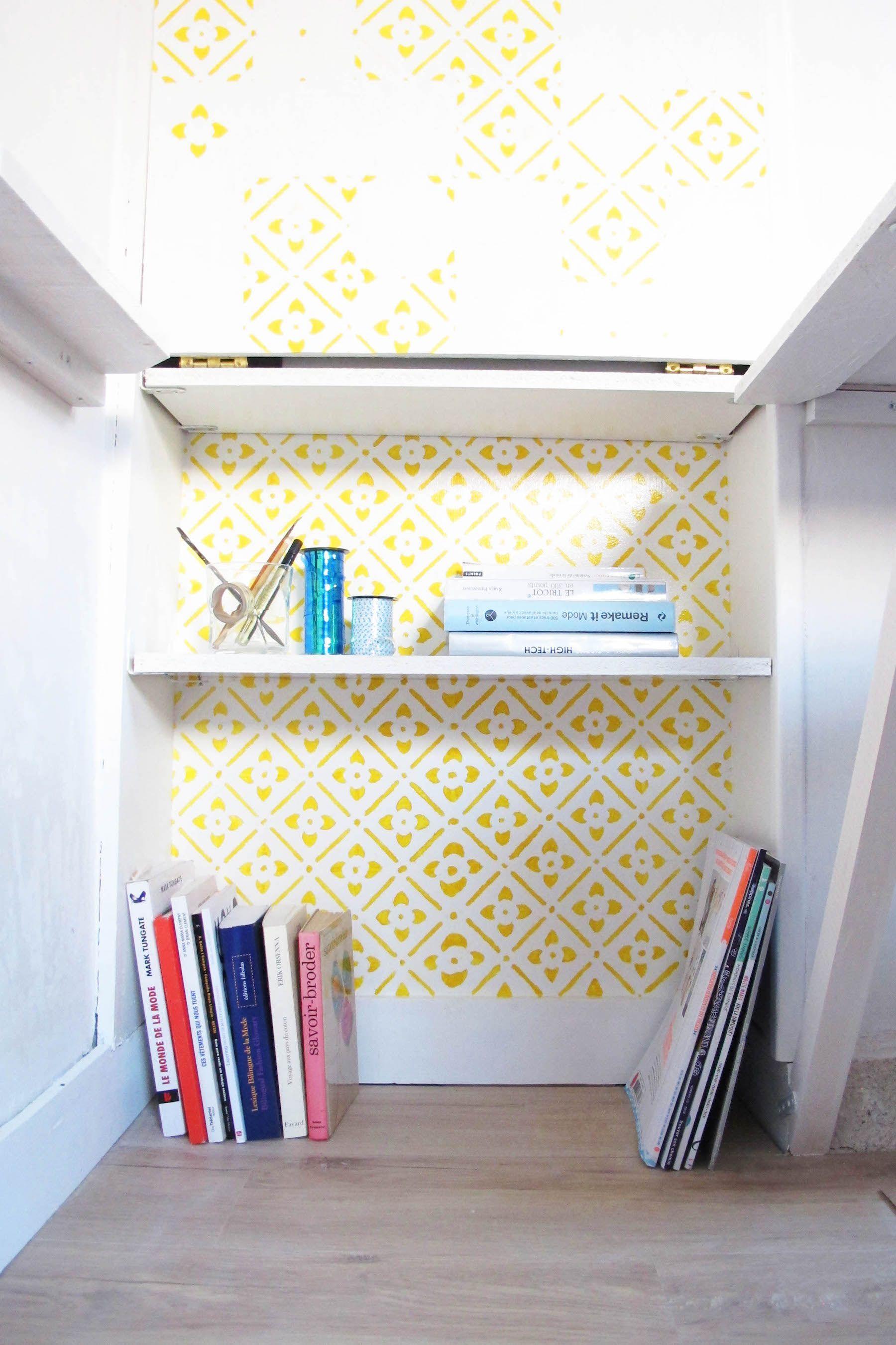 diy-peindre-au-pochoir-jaune-azulejos-bibliotheque-makeover-fait-maison-myhappywardrobe-12
