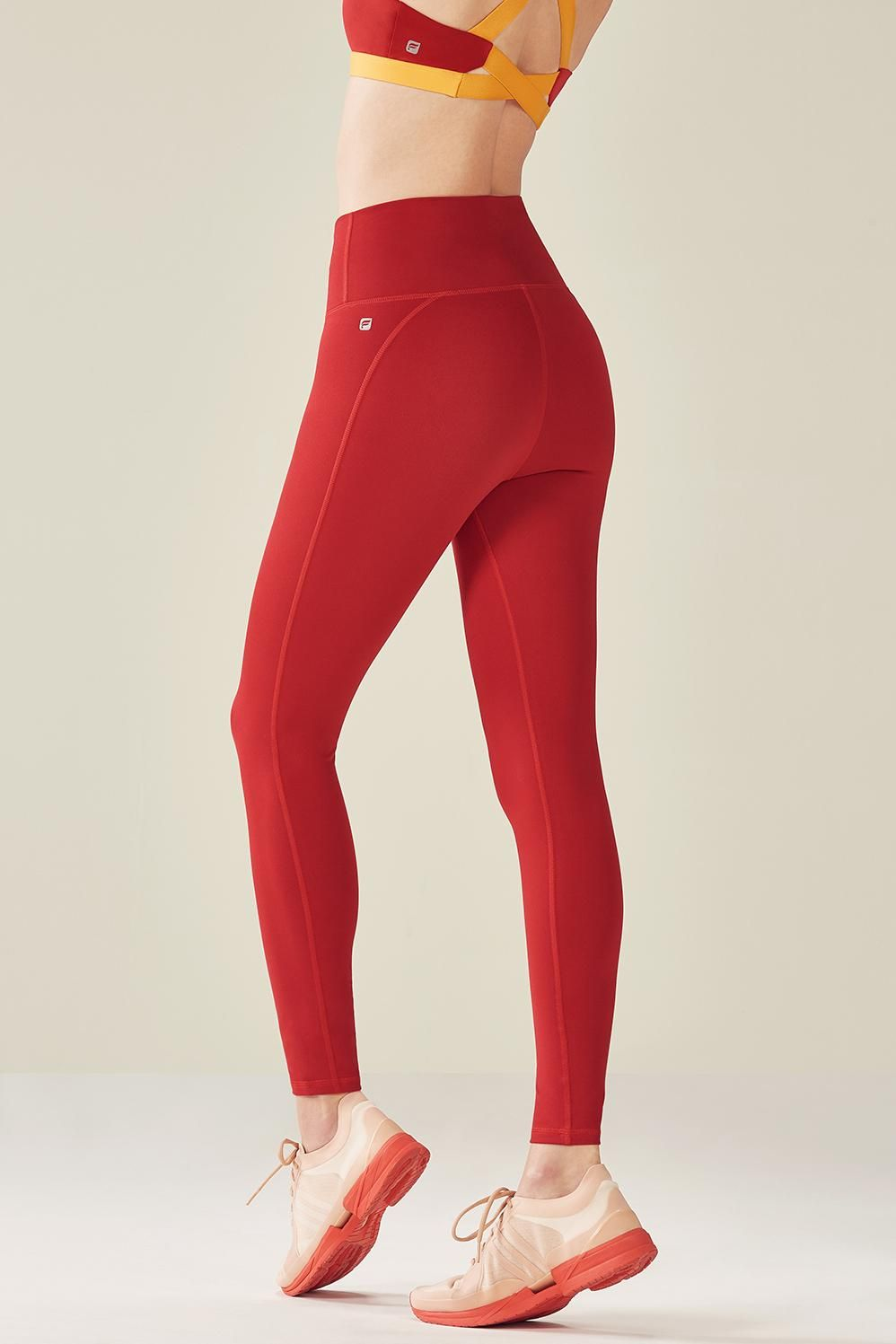 66eca34f331 Fabletics Legging High-Waisted Solid Powerhold® 7 8 Womens Red Size 2X