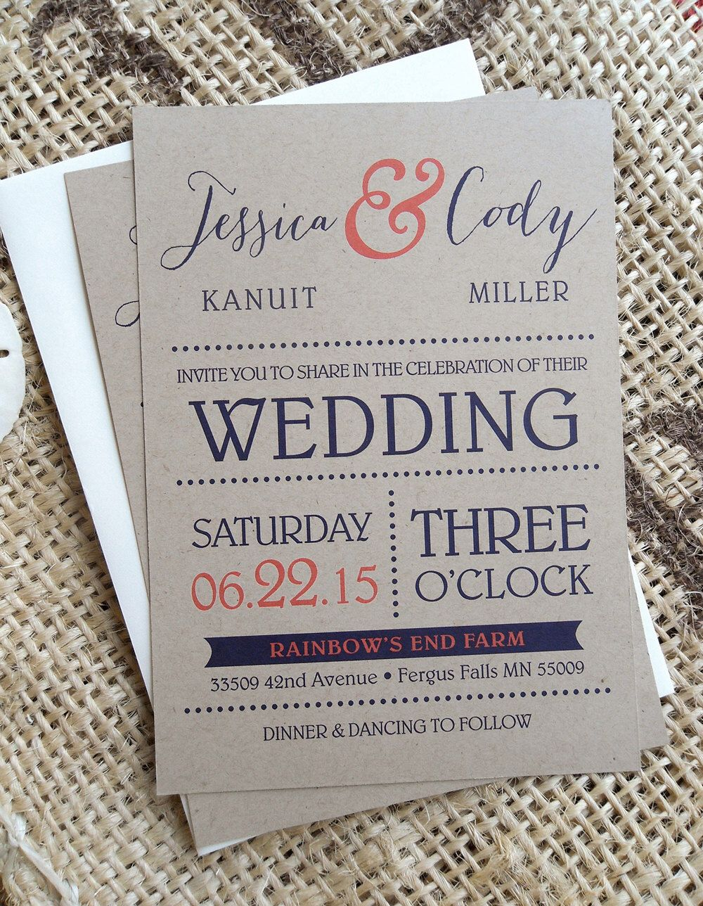Rustic Wedding Invitations Invites RSVP Postcards Cards Country Barn ...